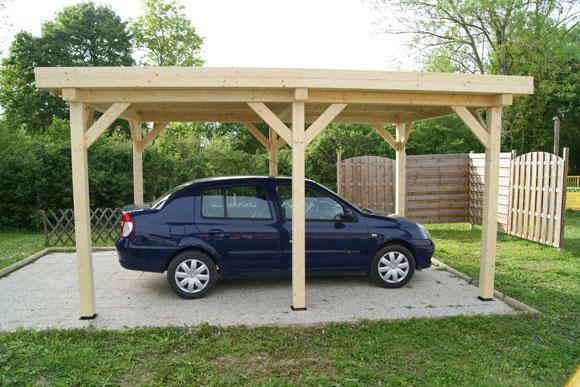 Garage pergola naturellement bois constructeur de for Pergola pour voiture